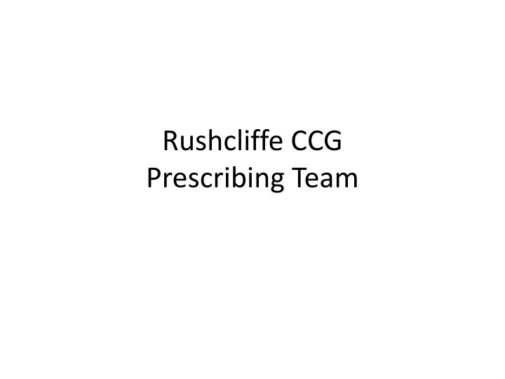 Rushcliffe CCG