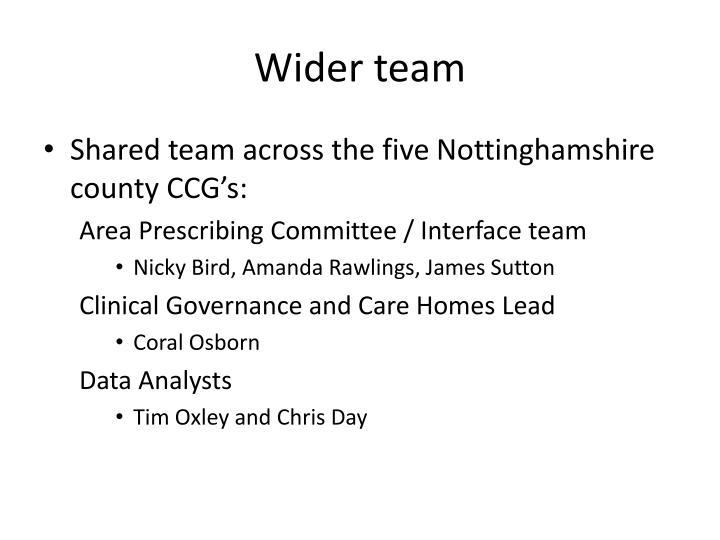 Wider team