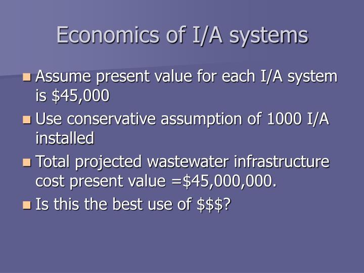 Economics of I/A systems