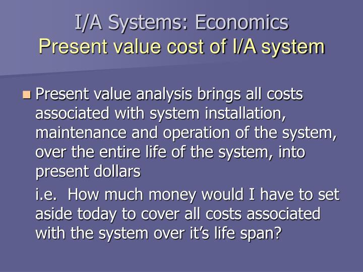 I/A Systems: Economics