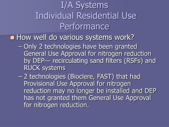 I/A Systems