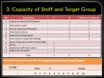 3 capacity of staff and target group