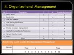 4 organizational management