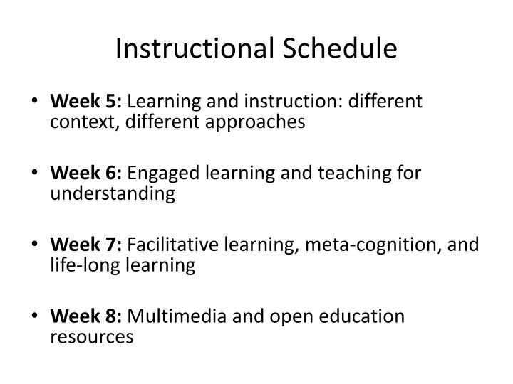 Instructional Schedule