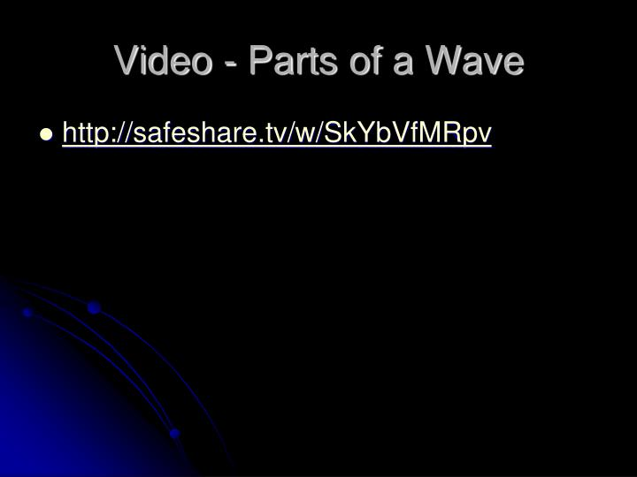 Video - Parts of a Wave
