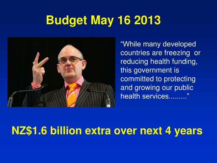 Budget May 16 2013