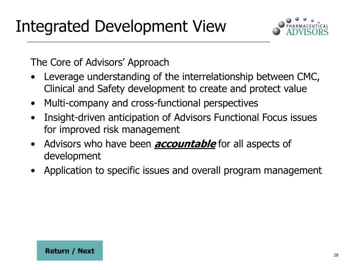 Integrated Development View