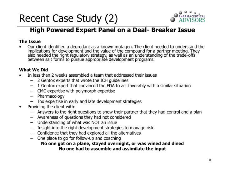 Recent Case Study (2)