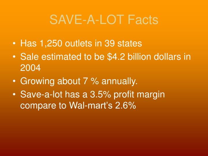 SAVE-A-LOT Facts
