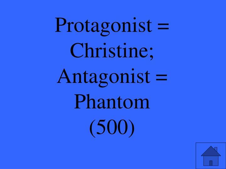 Protagonist = Christine;