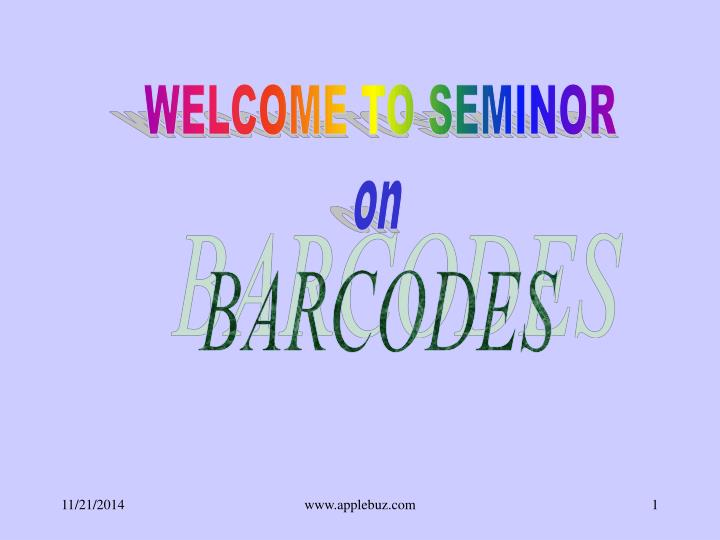 WELCOME TO SEMINOR