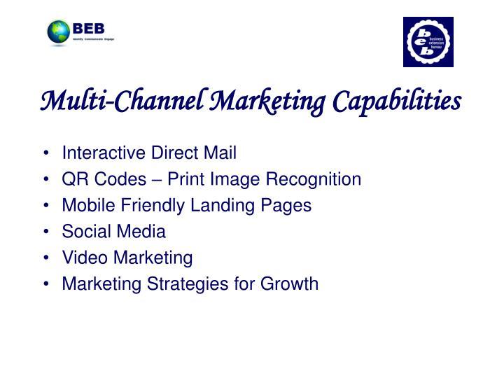 Multi-Channel Marketing Capabilities