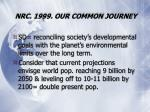nrc 1999 our common journey