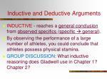 inductive and deductive arguments