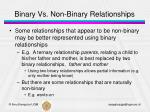 binary vs non binary relationships