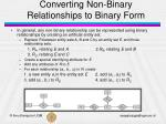 converting non binary relationships to binary form