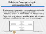 relations corresponding to aggregation cont