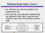 relationship sets cont