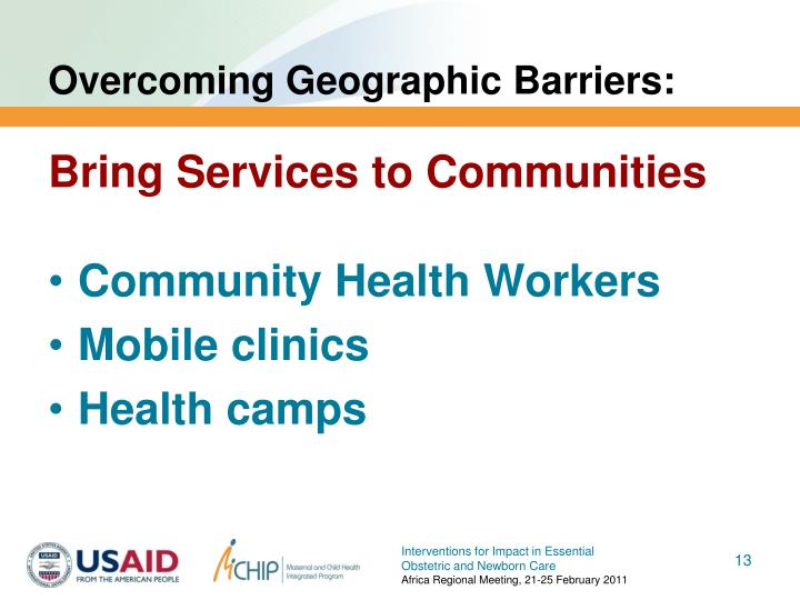 Overcoming Geographic Barriers: