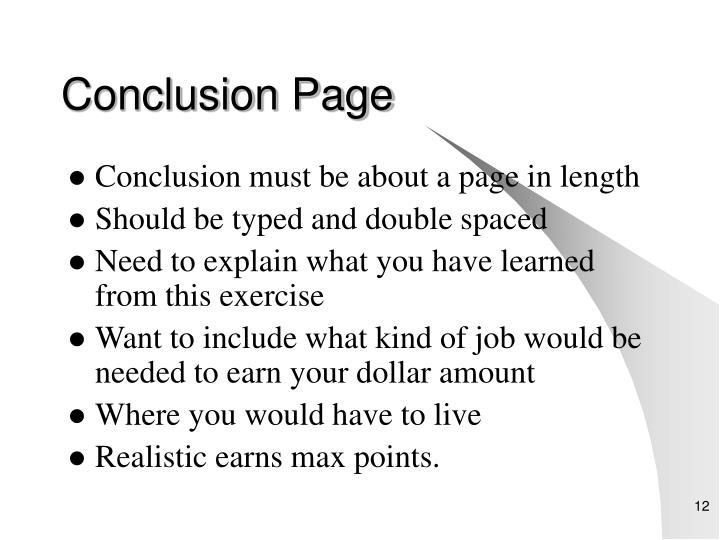 Conclusion Page