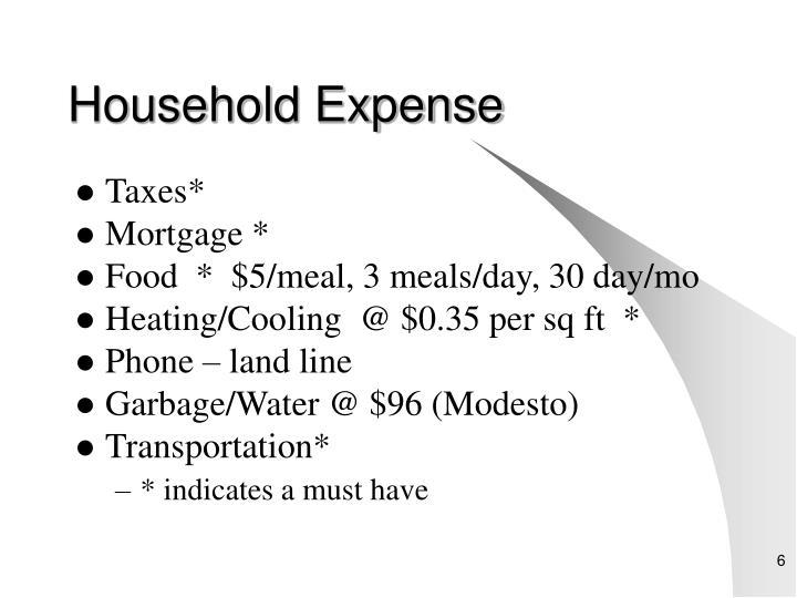 Household Expense