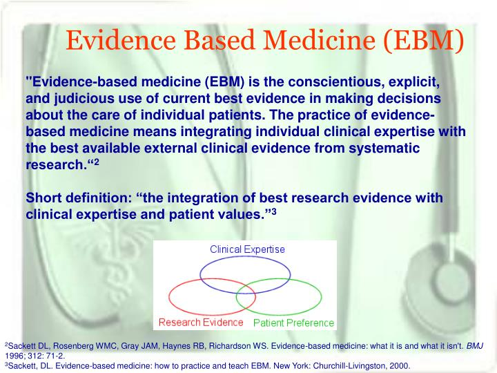 Evidence Based Medicine (EBM)