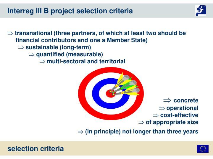 Interreg III B