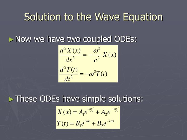 Solution to the Wave Equation