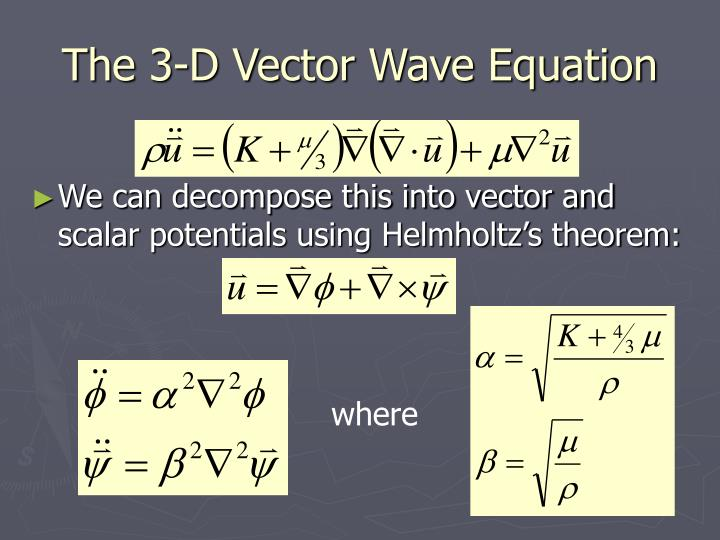 The 3-D Vector Wave Equation