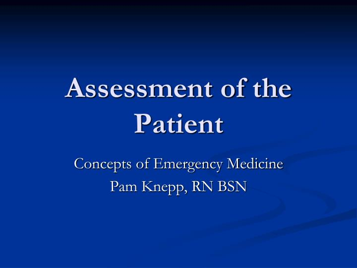 assessment of the patient n.