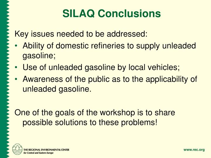 SILAQ Conclusions