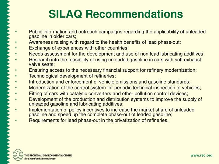 SILAQ Recommendations