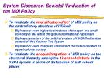 system discourse societal vindication of the moi policy1