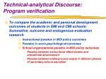 technical analytical discourse program verification6