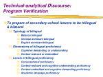 technical analytical discourse program verification7