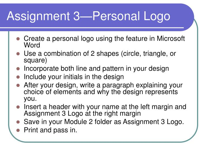 Create a personal logo using the feature in Microsoft Word