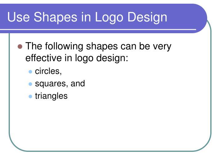 Use Shapes in Logo Design