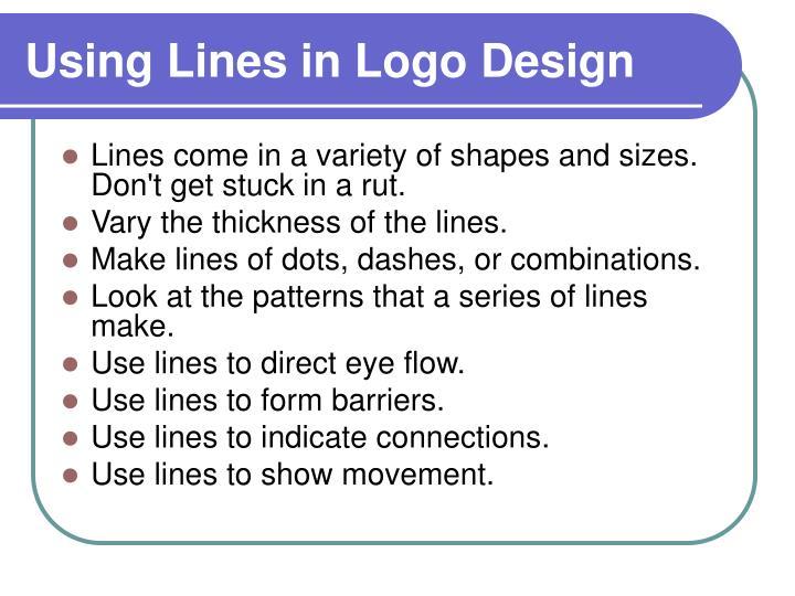 Using lines in logo design