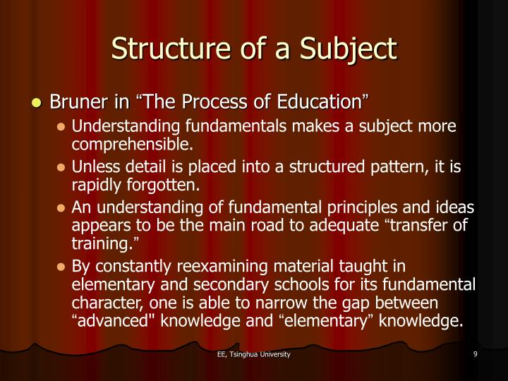 Structure of a Subject