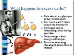 what happens to excess carbs