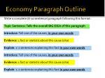 economy paragraph outline