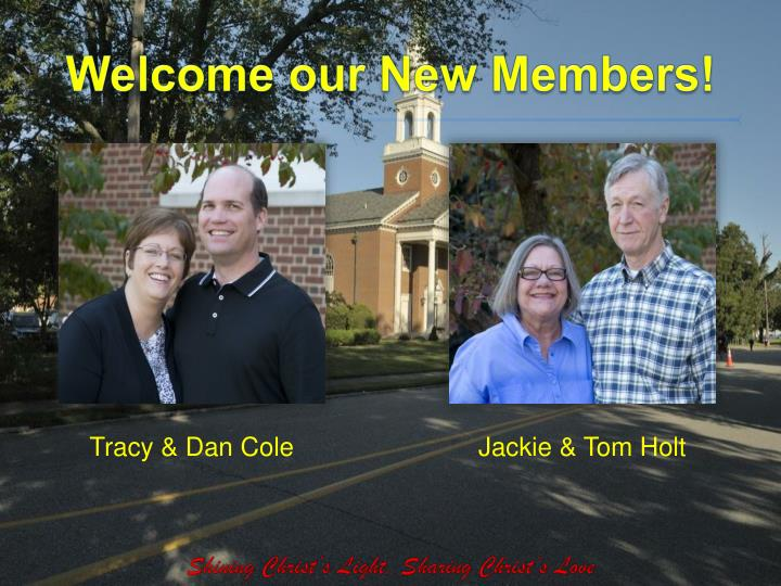 Welcome our New Members!
