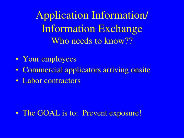 Application Information/