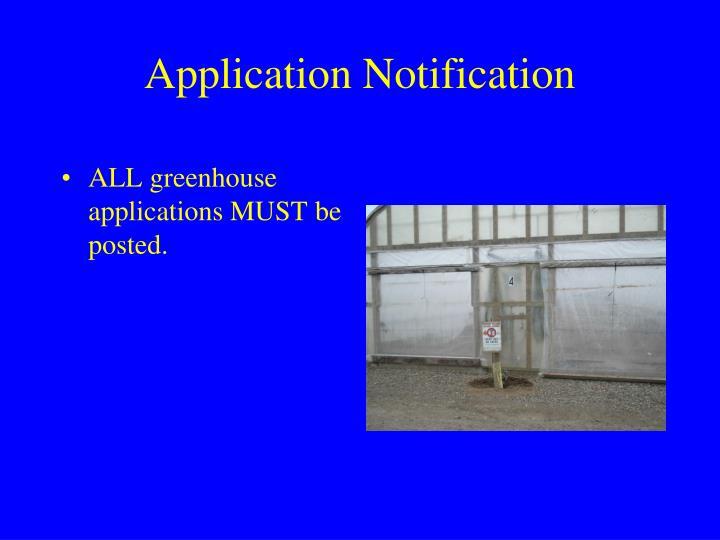 Application Notification
