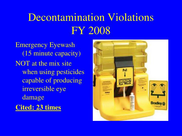 Decontamination Violations