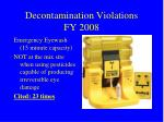 decontamination violations fy 2008