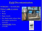 field decontamination