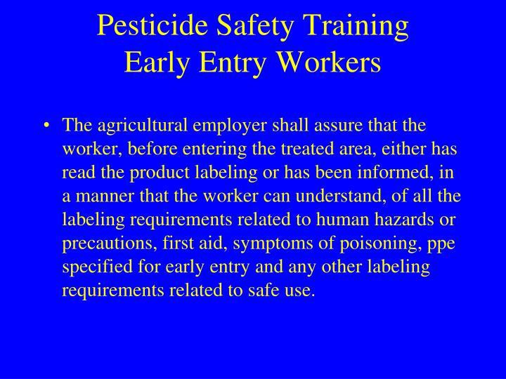 Pesticide Safety Training