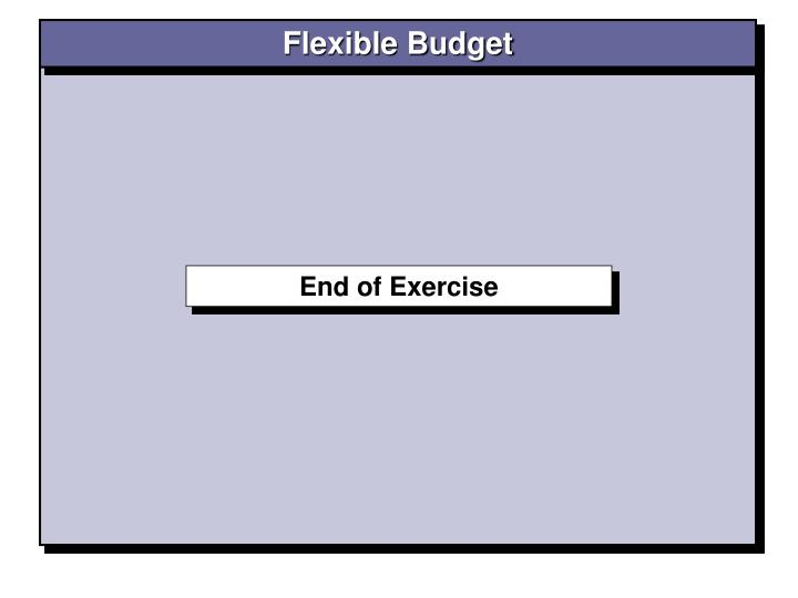 Flexible Budget