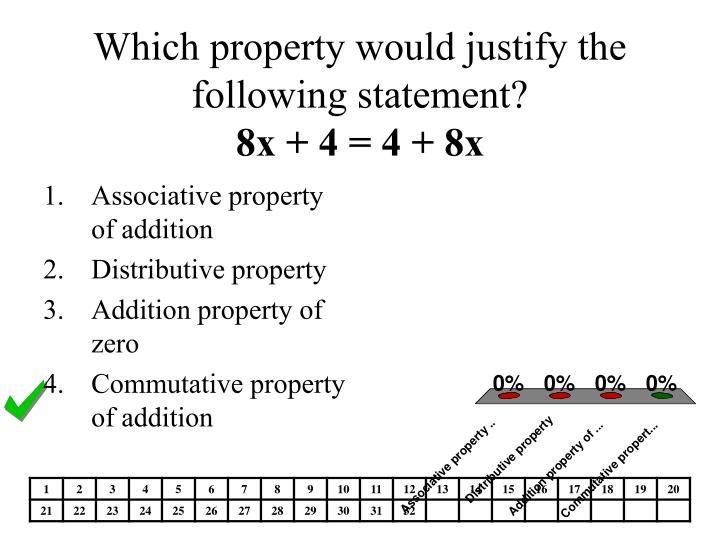 Which property would justify the following statement?